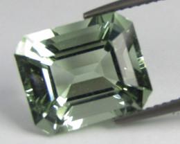 4.85Cts Stunning Natural Green Amethyst (prasiolite) Emerald Cut Loose Gem