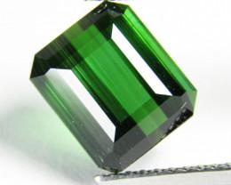 3.82Cts Natural Amazing Green Tourmaline Emerald Cut Loose Gem