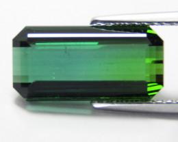 4.04Cts Natural Amazing Green Tourmaline Emerald Cut Loose Gem