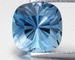 5.18Cts Sparkling Natural London Blue Topaz Square Master Cut Loose Gem
