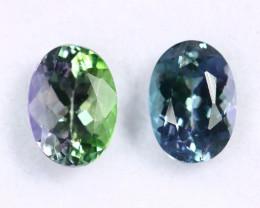 2.09cts Natural Tanzanite Gemstone Pairs / JKL1671