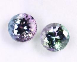 2.21cts Natural Tanzanite Gemstone Pairs / JKL1672