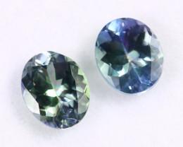 2.13cts Natural Tanzanite Gemstone Pairs / JKL1676