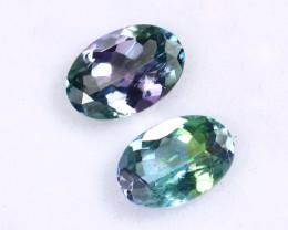 2.23cts Natural Tanzanite Gemstone Pairs / JKL1680