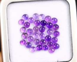 6.36cts Natural Purple Amethyst Cabochon Lot /MAOV2473