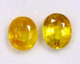 3.27cts Natural Yellow Sapphire Pairs/MAW2478
