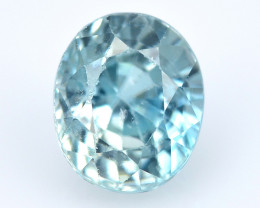 Sea Blue Zircon 1.47 Cts Amazing Fancy Color Natural Gemstone