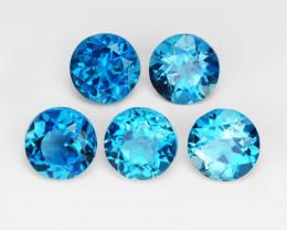 Topaz 5.10 Cts 5Pcs Rare Fancy London Blue Color Natural