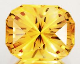 ~CUSTOM CUT~ 9.38 Cts Natural Golden Orange Citrine Fancy Cushion Brazil
