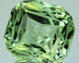 10.87 Cts Fine Facet Natural Prasiolite Amethyst Cushion Precision Cut REF