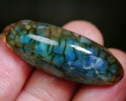 33.25 CT Unique Blueish Dragon Skin Chalcedony Agate