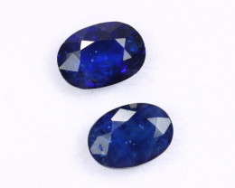 2.03cts Natural Dark Blue Sapphire Earring Pairs/MAX2505