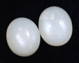 10.40cts Natural Moonstone Cabochon Earring Pairs/MAOY2507