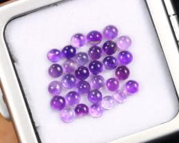 5.57cts Natural Purple Amethyst Cabochon Lots/MAOV2509