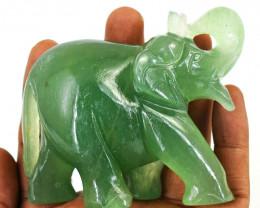 Genuine  955.00 Cts  Aventurine Carved Ganesha