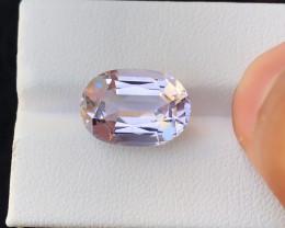 9.85 Ct Natural Pinkish Transparent Ring Size Kunzite  Gemstone