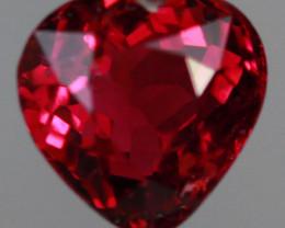 1.84CT 7X7MM Rosewood Pink!! Natural Mozambique Tourmaline-PTA940