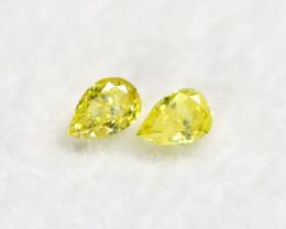 Yellow Diamond 0.20Ct Natural Untreated Genuine Fancy Diamond BM690