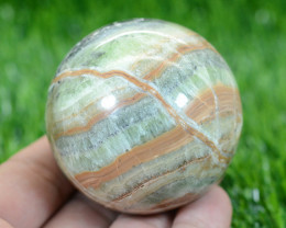 1500 CTs Beautiful Green Calcite Healing Sphere From Pakistan