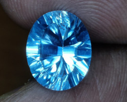 4.30 CTS~EXCELLENT LUSTER CUT NATURAL UNHEATED  BLUE TOPAZ