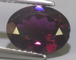 3.25 CTS EXQUISITE NATURAL UNHEATED OVAL RHODOLITE GARNET!!