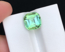 Fabulous Quality 5.55 Ct Mint Green Color Tourmaline From Afghanistan