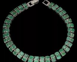 Amazing 155.0tcw.  Brazilian Emerald Bracelet Unheated Retail $1750