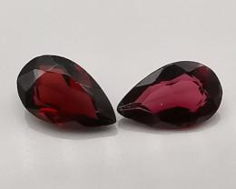 Rhodolites, 1.885ct, pear cut awesome gems!!
