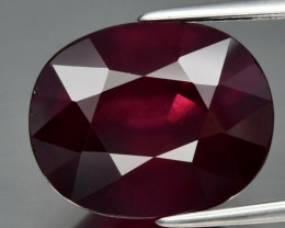 9.65 ct Natural Earth Mined  Reddish Purple Rhodolite Garnet