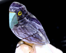 89CTS FLOURITE CARVED BIRDS FROM PERU LT-13 lightningtreasures
