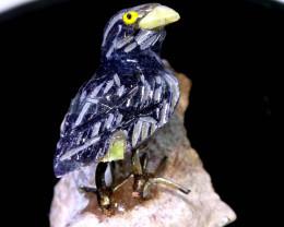 146CTS FLOURITE CARVED BIRDS FROM PERU LT-40 lightningtreasures