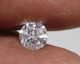 Certified $885 Gorgeous 0.64 ct Nat  Round White Loose Diamond