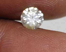Certified $880 Gorgeous 0.55 cts SI1 Nat  Round White Loose Diamond