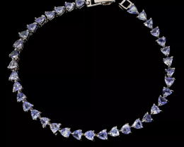 Stunning $1200 Natural 50.25tcw. Tanzanite Bracelet Untreated