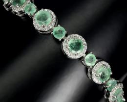 (BA52) Amazing 55.0tcw.  Brazilian Emerald Bracelet Unheated Retail $1750