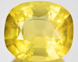 22.24 Cts Beautiful Natural Pastel Yellow Apatite Cushion Cut Brazil