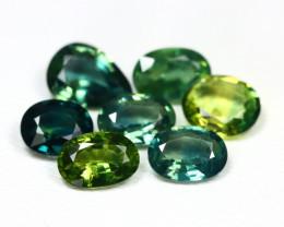 Sapphire 3.72Ct VS 7Pcs Natural Australian Blue Sapphire SB92