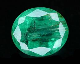 1.30 ct Oval Cut Natural Zambian Emerald
