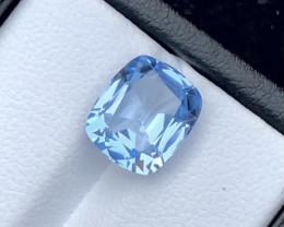 NR~PREMIUM 3000$ Santa maria Color 4.00 ct Aquamarine TOP Clarity~Q