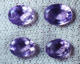 7.90 CTs Natural & Unheated~Purple Amethyst Gemstone Lot