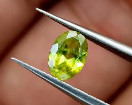 0.80Crt Green Sphene  Color Change Natural Gemstones JI78