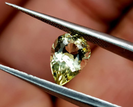 1.32Crt Yellow Tourmaline Natural Gemstones JI78