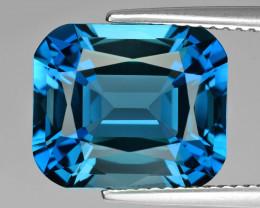 7.68Cts Stunning Natural London Blue Topaz Fashion Emerald Cut Loose Gem
