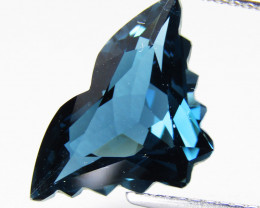 6.19Cts Amazing Natural London Blue Topaz Butter Fly Cut Loose Gem