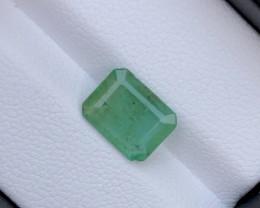 2.10 Emerald Cut Natural Zambian Emerald