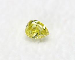 Intense Yellow Diamond 0.17Ct Natural Untreated Genuine Fancy Diamond BM726