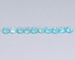 Mystic Topaz 1.27 Cts  10 Pcs Rare Sea Blue Color Natural Gemstone - Parcel