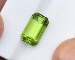 CERTIFIED 5.22 Carats Natural Peridot Cut Stone from Pakistan