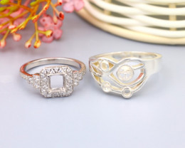 6.70g Silver Semi Mount Ring 925 Sterling Silver Ring Design SG591