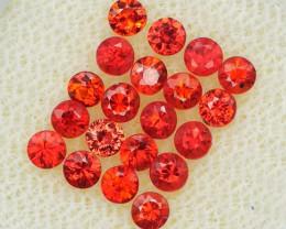 *Starts $15NR* Red Orange Sapphire 1.65Ct.